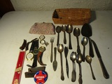 Lot of Vintage Watches, Silver Plate Tableware, Rogers