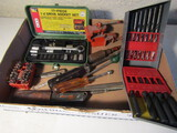 Lot of Tools, Drill Bits, Wrenches, Small Vise