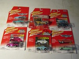 Lot of 6 Johnny Lightning Cars, in Original Packages