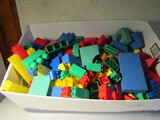Large Lot of Legos and Blocks