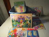 Lot of Kids Books, Puzzles, Melissa and Doug, Fisher Price