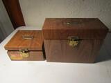 Lot of 2 Ballenoff Metal File Boxes, No Keys