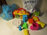 Lot of Playdoh Supplies, Molds, Playdoh, Containers