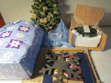 Lot of Christmas Décor, Tree, Wall Hangings, Cups