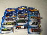 Lot of 9 HotWheels Cars, Original packages