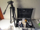 Lot of 2 Stainless Camera Case, Camera Supplies and Solidex Tripod
