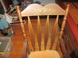 Wood Rocking Chair with Seat Cushion