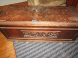 Cedar Chest by ER Co. with Blankets, with Wood Guarntee Certificate