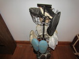 Shoe Stand with Assorted Ladies Shoes