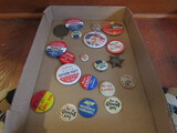 Lot of Vintage Political Buttons, Mondale, Perot