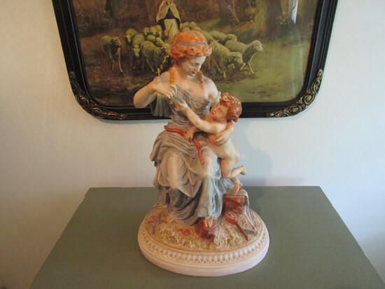 Antique Parian/Bisque Large Figurine, James & Thomas Bevington
