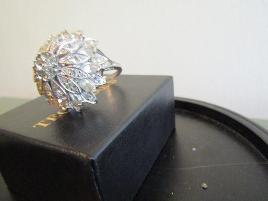 Vintage Rhinestone Sterling Ring