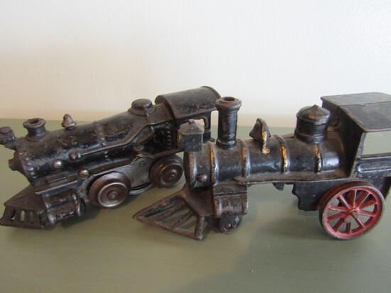 Vintage Cast Iron Push Trains
