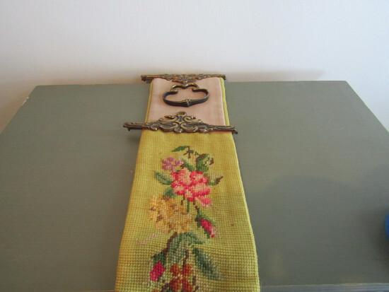 Victorian Brass, Needlepoint Door Hanger