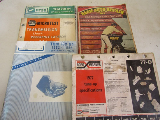 Lot of 5 Auto Books, THM Transmission, Borg-Warner 68-77
