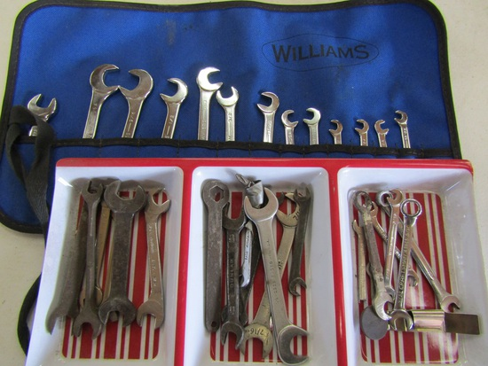 Lot of Wrenches Standard, Williams, Proto
