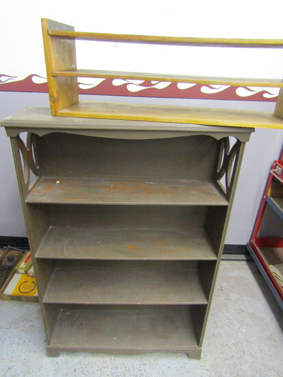 Lot of 2 Wood Shelf Units