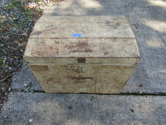 Vintage Metal Storage Trunk