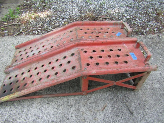 Vintage Pair Metal Car Ramps
