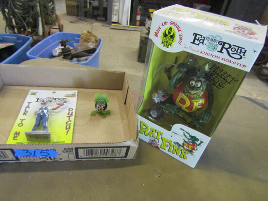 "Lot of 3, Ed Roth Kustom Monster ""Rat Fink"" in Original Package"