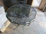 Vintage Metal Outdoor End Table