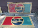 Lot of 2 Vintage Pepsi Advertising Signs