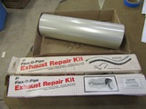 Exhaust Repair, Brass Fittings, Roll of Plastic
