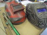 Lot of 3 Welding Helmets and Cutting Torch