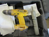 Lot of 2 Cordless Drills and Cases, 1-DeWalt
