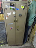 Metal Cabinet with Contents, Car Care Supplies