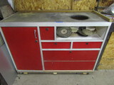 Cabinet on Wheels with Contents, 5 Drawers, Buffing Pads and Files