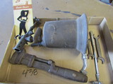 Lot of Tools, Pipe Wrench, Torch, Bottle Opener, Wrenches