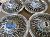 Lot of 4 Pontiac Chrome Wired Wheel Covers