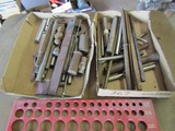 Lot of Steel Driver Bars and Sizing Plate