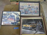 Lot of 3 Framed Pictures, 1- Robt. Williams