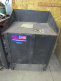Metal Cabinet with Contents, Welding Rods and Equipment