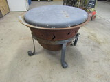 Steel Outdoor Fire Pit with Lid, Pick Up Only