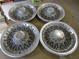 Lot of 4, Chevy Wire Spoked Chrome Wheel Cover, Nonis, 15