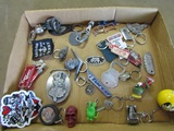 Vintage Hot Rod Keychains and Patches
