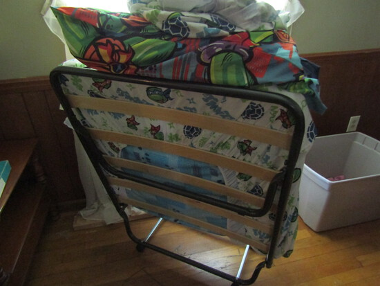 Vintage Fold Away Bed with Mattree and Linens