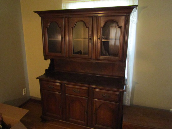 Vintage Wood China Hutch