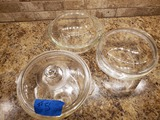 Lot of 3 Pyrex with Lids
