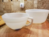 Lot of 2 Fire King Measuring Bowl and Mixing Bowl