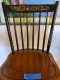 Vintage Chair, Black Spindle, Stamped Hitchcock