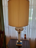 2 Vintage Marble Base Glass Lamp