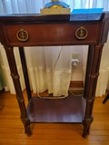 Vintage Cherry Wood Accent Table with Drawer