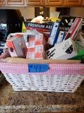Basket of Office Supplies