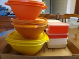 Lot of 7 Tupperware with Lids