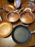 Set of 6 Copper Cook, with 3 Lids