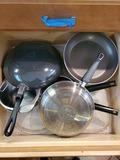 Lot of Pots, Pans, Lids